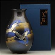 达摩双鹤花瓶