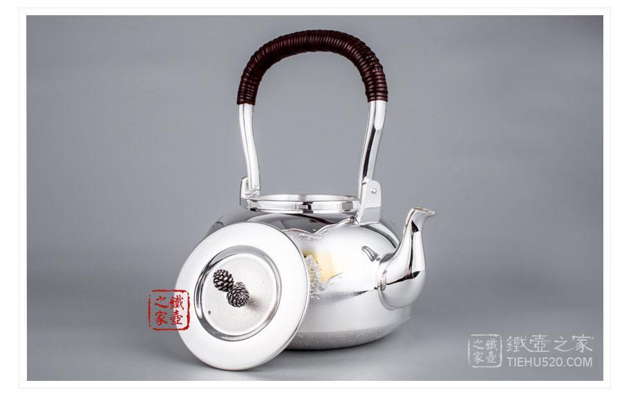 大渊银器 纯银 山水纹汤沸(5寸)展示图