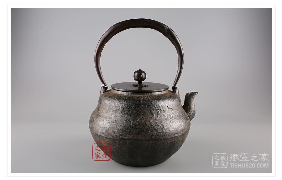 平安松寿堂 瓢形砂铸铁壶展示图