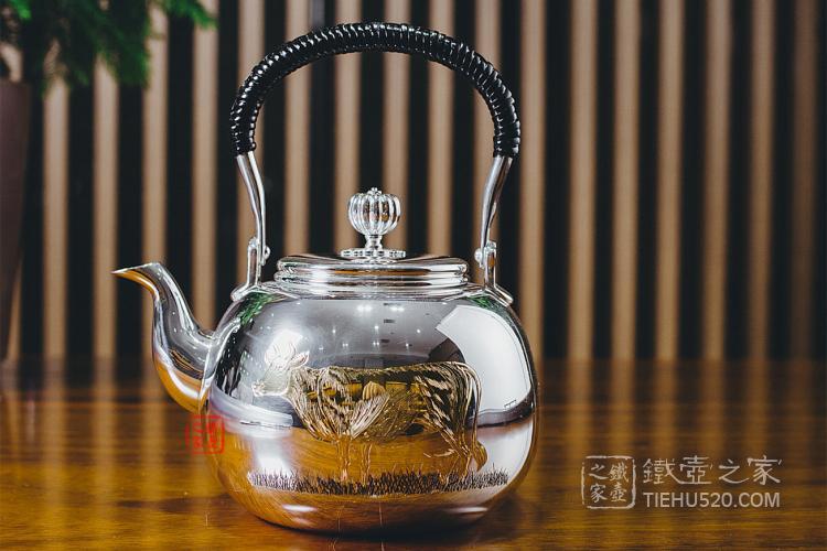牛雕金银壶煮水