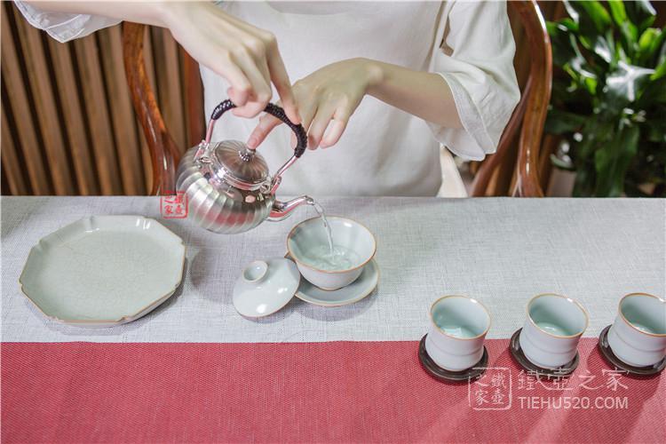 日本手工银壶