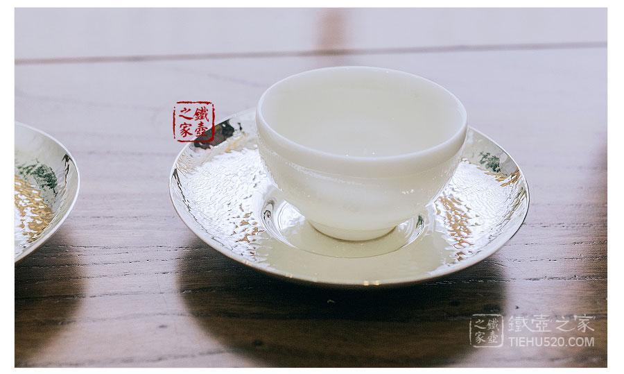 早川器物 镀银龟甲纹茶托 5件套展示图