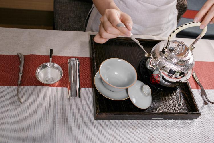 大渊银器纯银汤沸