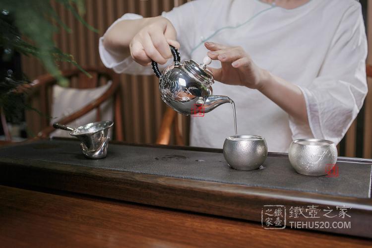 高陵金寿堂纯银泡茶壶