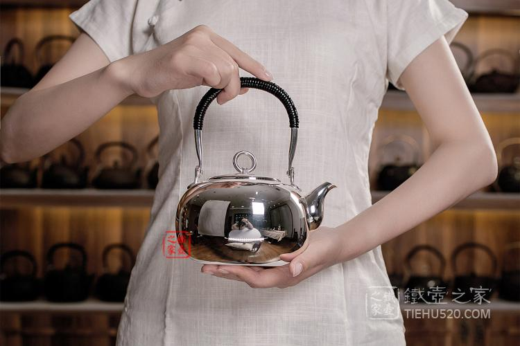 日本光面银壶