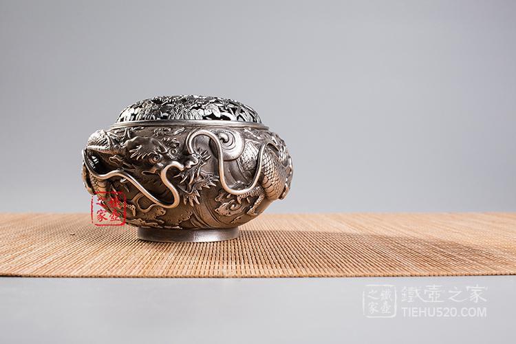 雨龙铜香炉