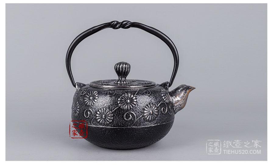 砂铁柚子型铁壶