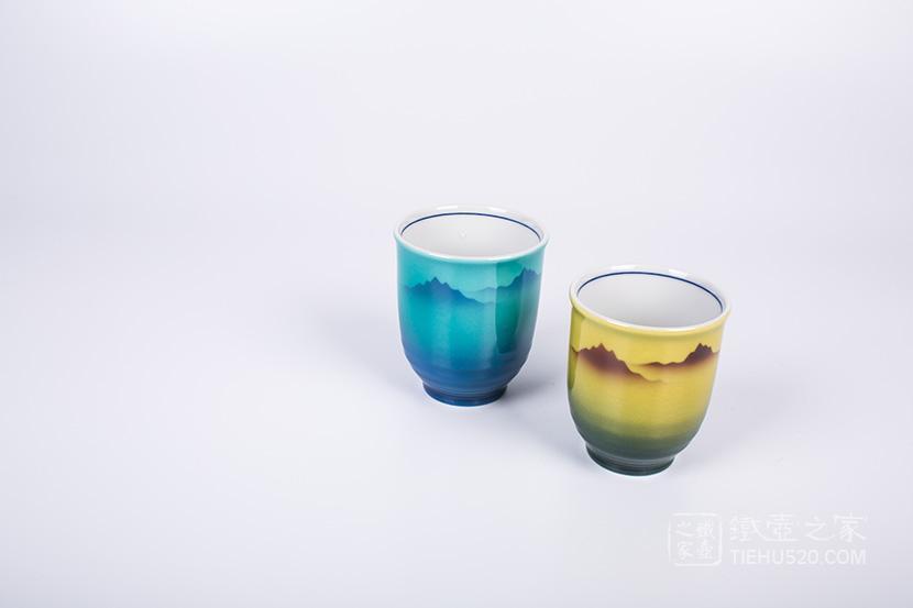 九谷烧 连山对杯套装(K5-671)展示图