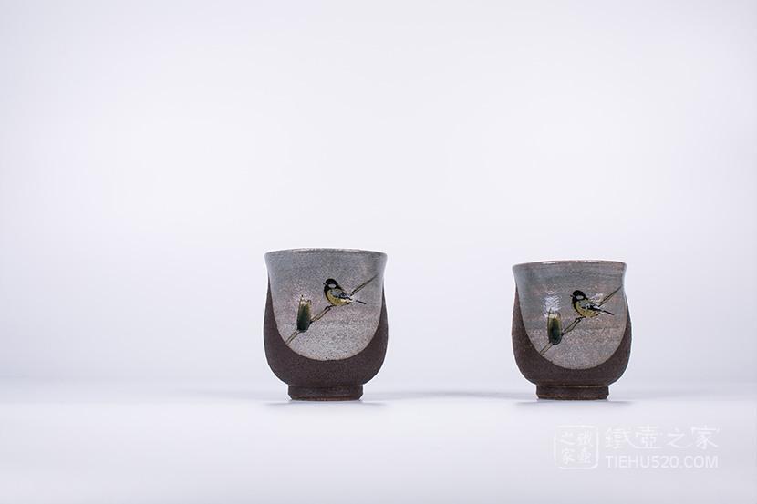 九谷烧 长闲对杯装(木箱)(K5-699)展示图