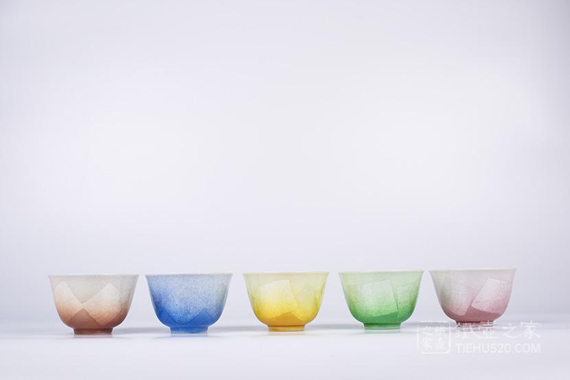 九谷烧 银彩5杯套装(K5-741)展示图
