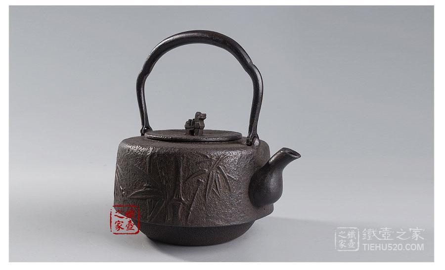 岩户賢一郎  角万代竹砂铸铁壶展示图