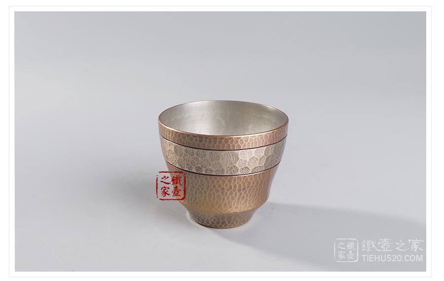松荣堂 锤纹金色杯展示图