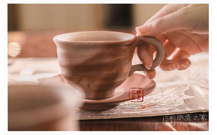 备前烧 小西陶古 绯色咖啡杯(套装)展示图