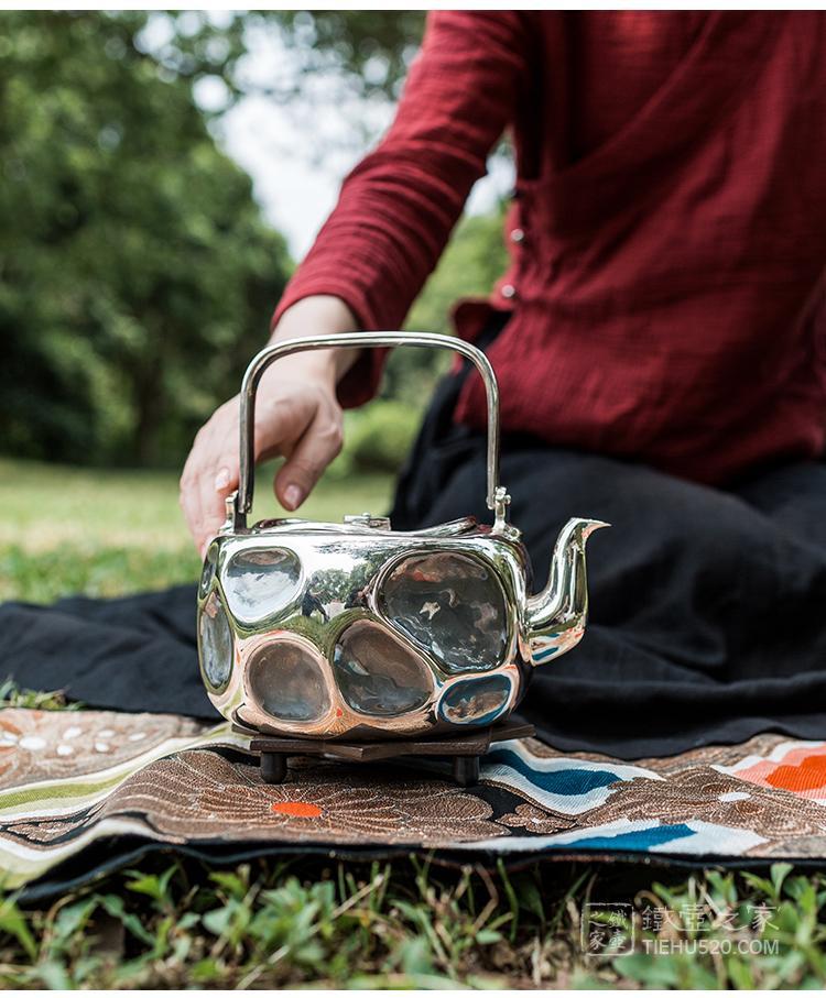 晓诚金工 菱木式大锤目银壶展示图
