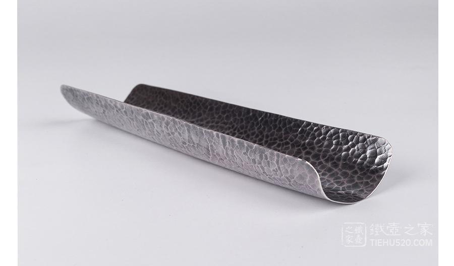 承合银器 锤目纹纯银茶则(熏色)展示图