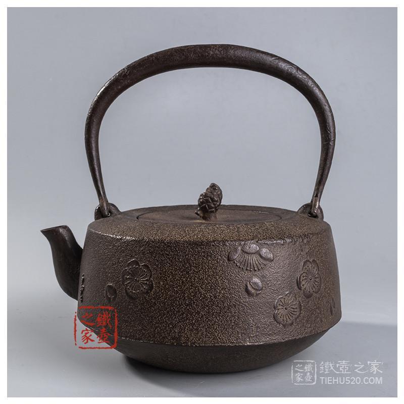 正寿堂 车轴型樱花纹老铁壶展示图