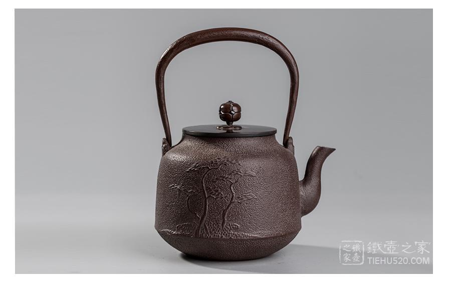 佐藤净清 真形松纹老铁壶(木盒)展示图