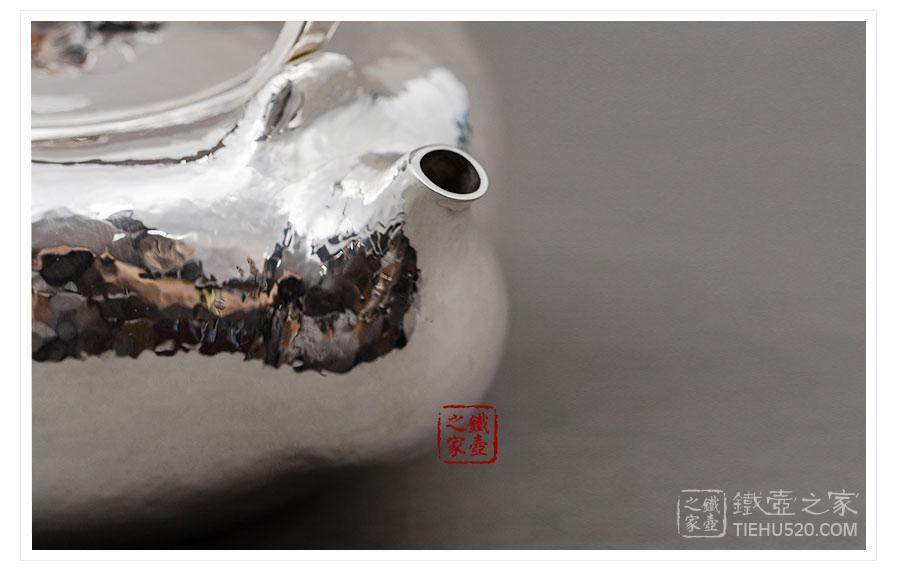 林陵祥 纯银 福运绵长口耳一体银壶(盖刻)展示图