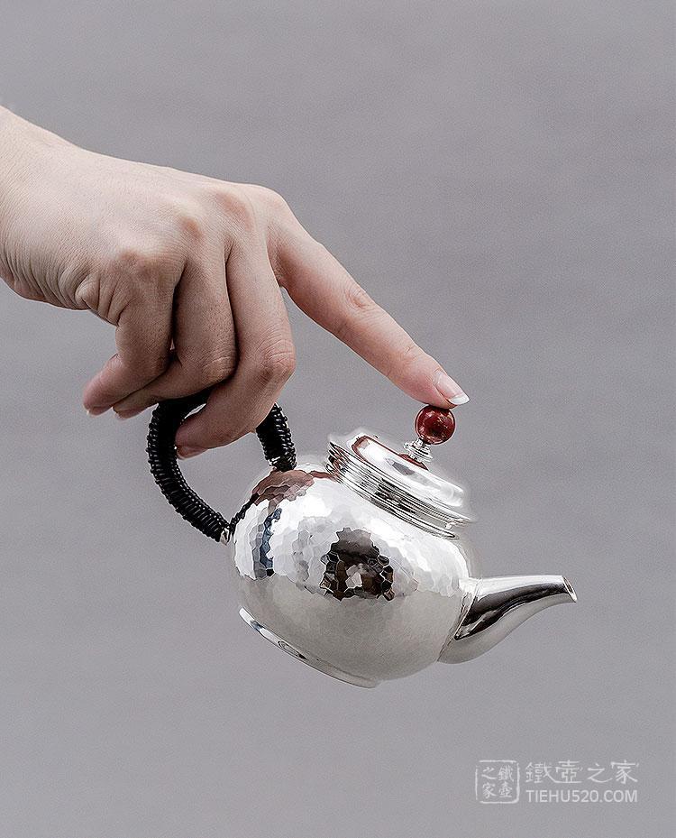 承合银器 纯银 鸿运当头急须/泡茶壶展示图