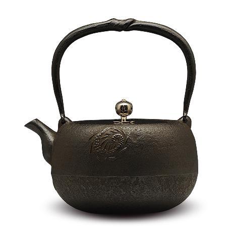 岩户賢一郎   丸龙银摘铜盖砂铸铁壶
