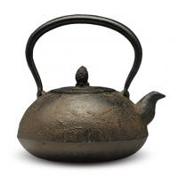 宝珠松枝砂铸铁壶