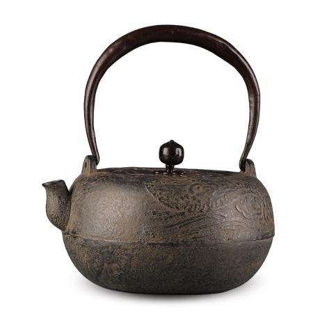 京都平安松寿堂 云龙砂铸铁壶