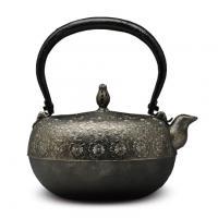 虎山工房 铁钵形樱砂铁壶