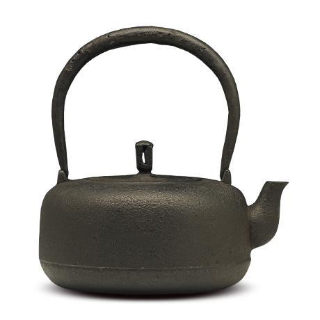御釜屋 高铜锣形砂铸铁壶