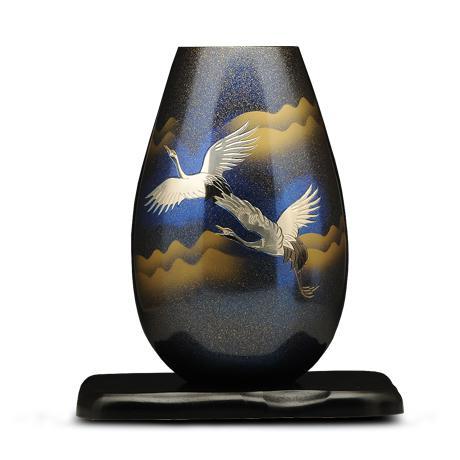 高冈铜器 翔鹤花瓶