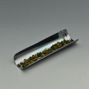 早川器物 竹型茶合(熏银)
