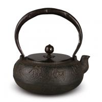 平丸文字入砂铸铁壶