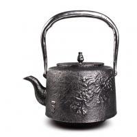 及川齊 花鸟砂铁铁壶