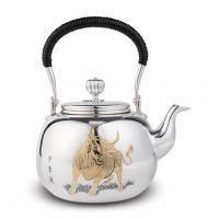 早川器物 纯银 牛雕金银壶