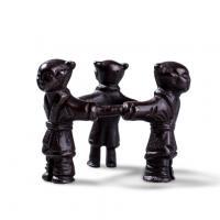 高冈铜器 三人形盖置