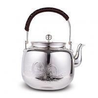 合川银器 纯银 水车银壶