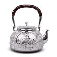 大渊银器 纯银 並型洋彫汤沸(4.5寸)