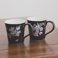 九谷烧 春秋银彩对杯套装(K5-917)