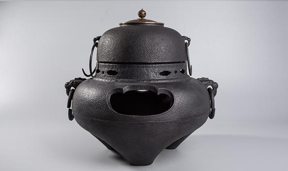 京都老釜 铸铁兽耳炉套件