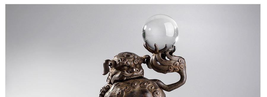 高冈铜器戏狮子香炉